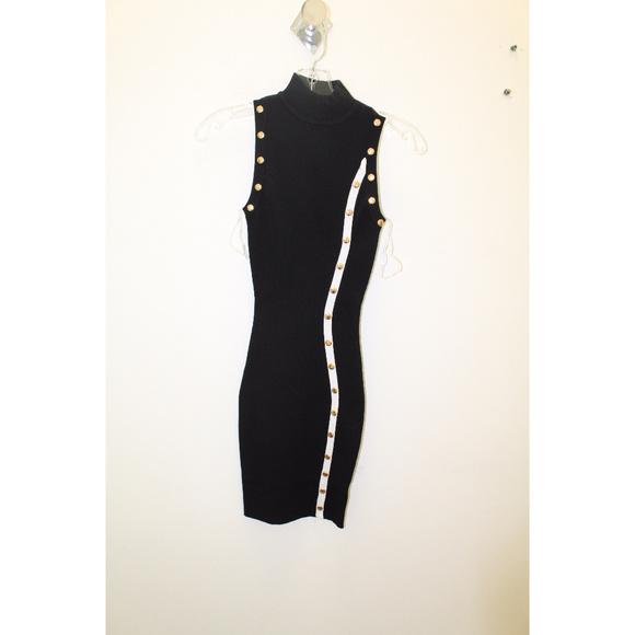 Dresses & Skirts - Womens Black Ribbed Knit Bodycon Mini Dress